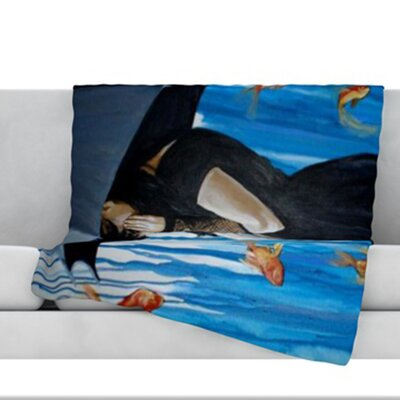 Sink or Swim Fleece Throw Blanket Size: 80 L x 60 W
