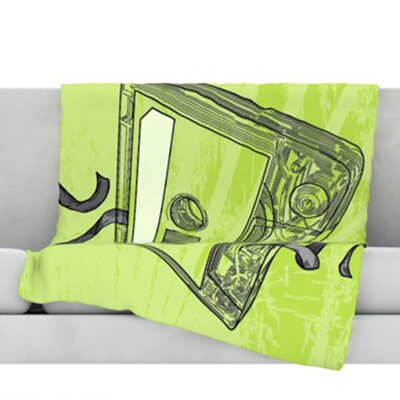 Mixtape Fleece Throw Blanket Size: 40 L x 30 W