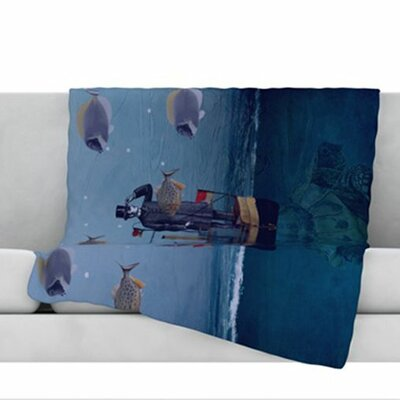 The Voyage Fleece Throw Blanket Size: 40 L x 30 W