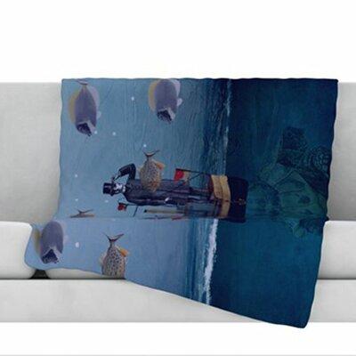 The Voyage Fleece Throw Blanket Size: 60 L x 50 W