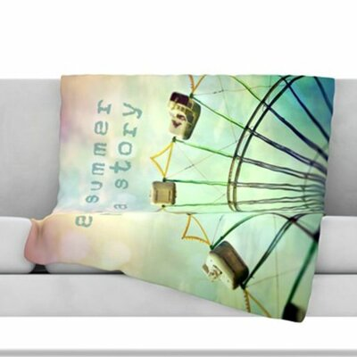 Every Summer Has a Story Fleece Throw Blanket Size: 80 L x 60 W