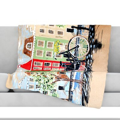 Bicycle Throw Blanket Size: 80 L x 60 W