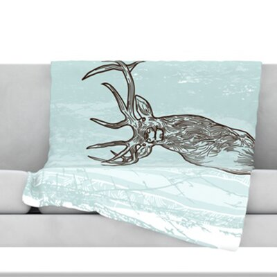 Elk Scene Fleece Throw Blanket Size: 60 L x 50 W