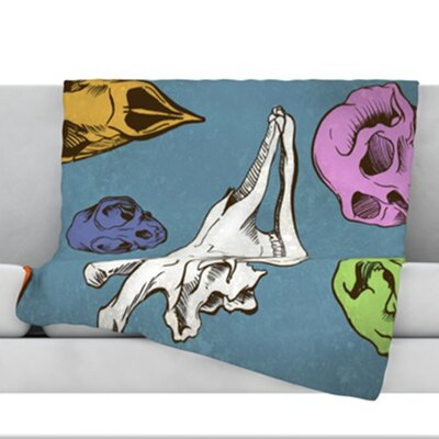 Skulls Fleece Throw Blanket Size: 60 L x 50 W