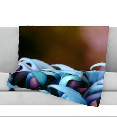 Bloom Fleece Throw Blanket Size: 80 L x 60 W