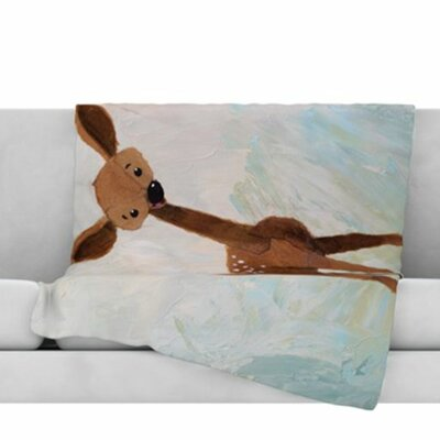 Oh Deer Fleece Throw Blanket Size: 60 L x 50 W