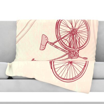 Bicycle Fleece Throw Blanket Size: 40 L x 30 W