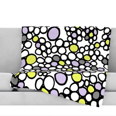Pebbles Throw Blanket Size: 80 L x 60 W, Color: Lilac