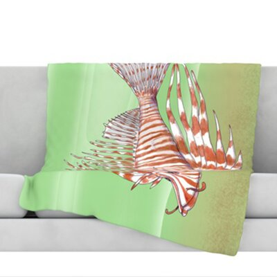 Fish Manchu Throw Blanket Size: 40 L x 30 W