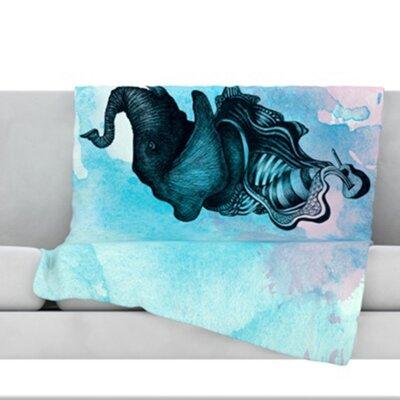 Elephant Guitar III Throw Blanket Size: 40 L x 30 W