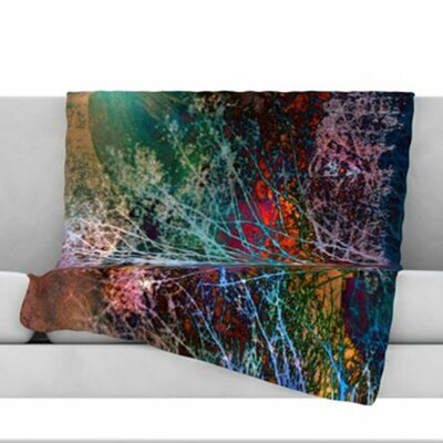 Trees in the Night Fleece Throw Blanket Size: 40 L x 30 W