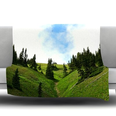 Going to the Mountains Fleece Throw Blanket Size: 40 L x 30 W