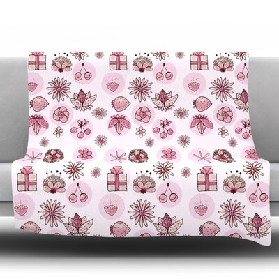 Cute Stuff Fleece Throw Blanket Size: 40 L x 30 W