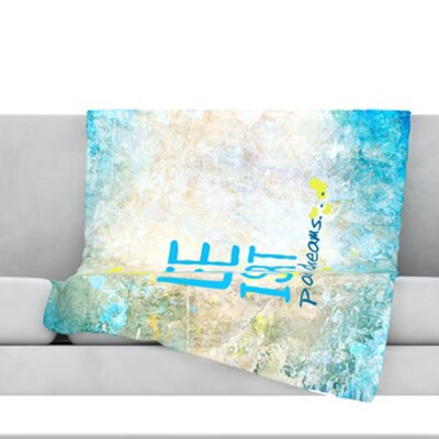 Life Is Art Throw Blanket Size: 60 L x 50 W