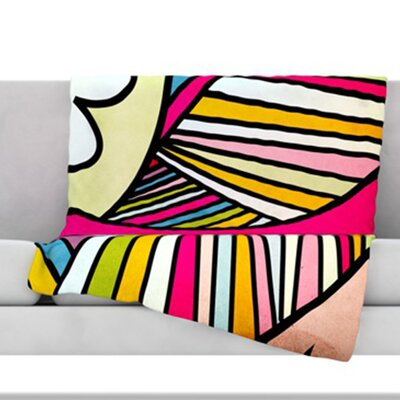 Fake Colors Throw Blanket Size: 80 L x 60 W