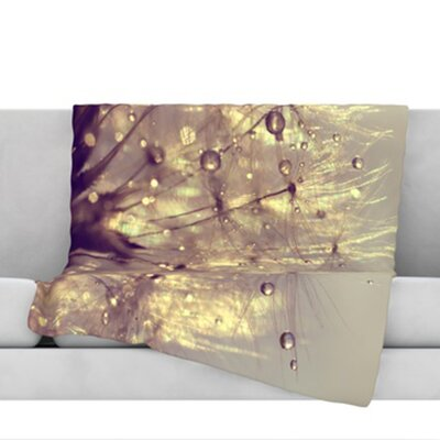 Sparkles of Gold Throw Blanket Size: 40 L x 30 W