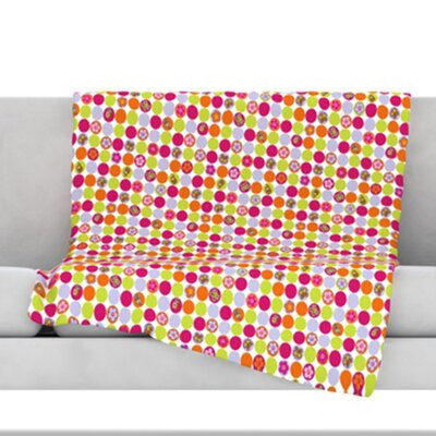 Happy Circles Throw Blanket Size: 80 L x 60 W