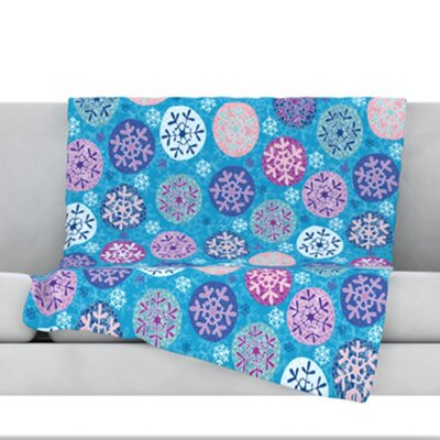 Floral Winter Throw Blanket Size: 80 L x 60 W