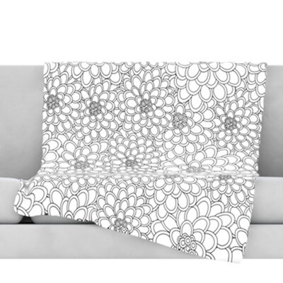 Flowers Throw Blanket Size: 60 L x 50 W
