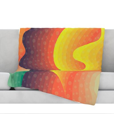 Waves, Waves Throw Blanket Size: 80 L x 60 W