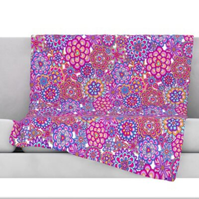 My Happy Flowers Throw Blanket Size: 80 L x 60 W