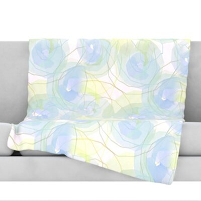 Paper Flower Throw Blanket Size: 40 L x 30 W