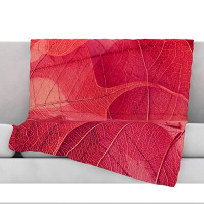 Delicate Leaves Throw Blanket Size: 80 L x 60 W