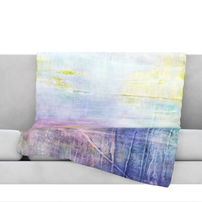Color Grunge Throw Blanket Size: 60 L x 50 W