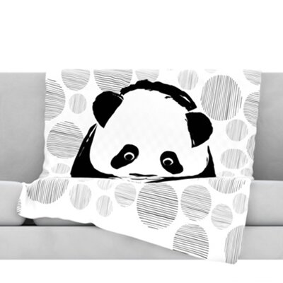 Panda Throw Blanket Size: 40 L x 30 W
