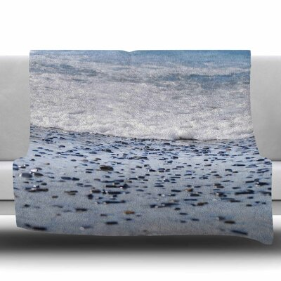 Solana Beach Sand Stones Fleece Throw Blanket Size: 60