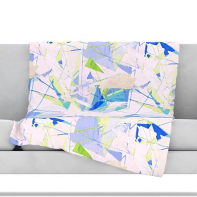 Shatter Throw Blanket Size: 80 L x 60 W, Color: Blue