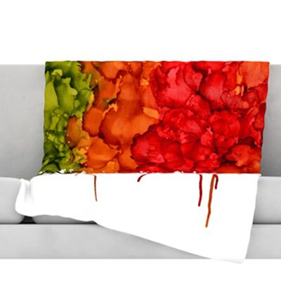 Fall Splatter Throw Blanket Size: 80 L x 60 W