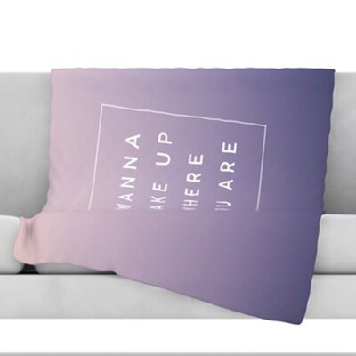 Wake Up Throw Blanket Size: 60 L x 50 W