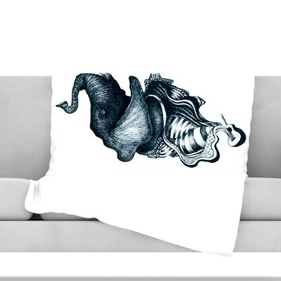 Elephant Guitar Throw Blanket Size: 60 L x 50 W