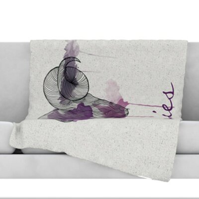 Aries Throw Blanket Size: 40 L x 30 W