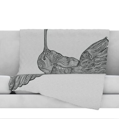 Hummingbird Throw Blanket Size: 40 L x 30 W