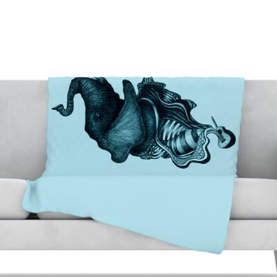 Elephant Guitar II Throw Blanket Size: 40 L x 30 W