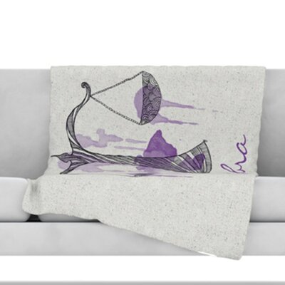 Libra Throw Blanket Size: 40 L x 30 W