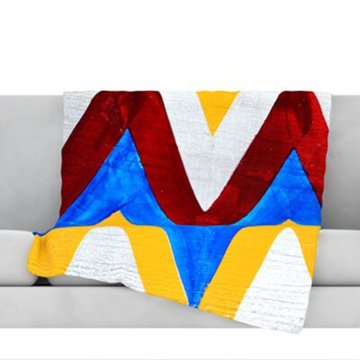 Zig Zag Throw Blanket Size: 40 L x 30 W