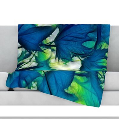 Leaves Throw Blanket Size: 60 L x 50 W