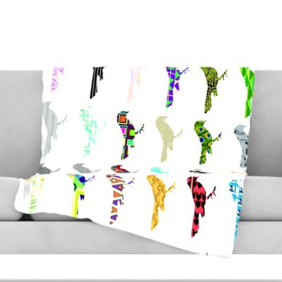 Birds Throw Blanket Size: 60 L x 50 W
