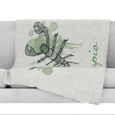 Scorpio Throw Blanket Size: 40 L x 30 W