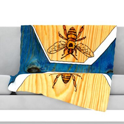Bees Throw Blanket Size: 80 L x 60 W