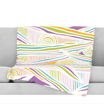 Graphique Throw Blanket Size: 40 L x 30 W, Color: White