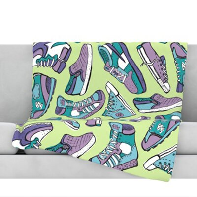 Sneaker Lover IV Throw Blanket Size: 60 L x 50 W
