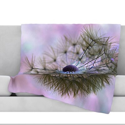 Dandelion Clock Throw Blanket Size: 40 L x 30 W