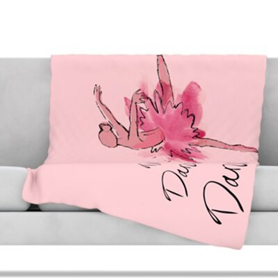 Ballerina Throw Blanket Size: 60 L x 50 W