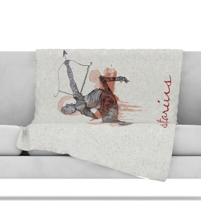 Sagittarius Throw Blanket Size: 60 L x 50 W