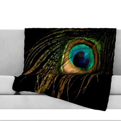 Peacock Throw Blanket Size: 40 L x 30 W
