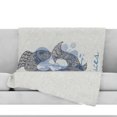 Pisces Throw Blanket Size: 40 L x 30 W